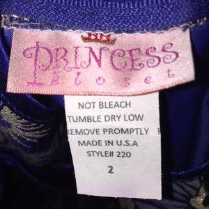Princess Kloset Dresses - Toddler Girl Princess Kloset Navy Gold Dress, 2